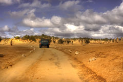 De weg van de woestijn Royalty-vrije Stock Afbeeldingen