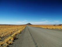 De weg van de Woestijn van Kalahari Stock Afbeeldingen