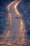 De weg van de zigzag stock fotografie