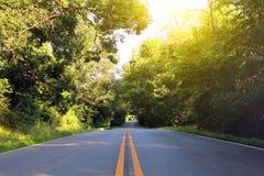 De weg van de zomer Stock Fotografie