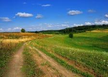 De weg van de zomer royalty-vrije stock foto's