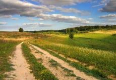 De weg van de zomer stock foto's