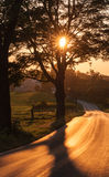 De Weg van de zonsondergang Stock Foto's