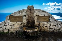 De Weg van Goden door Amalfi Kust in Italië stock foto's