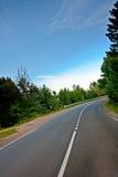 De weg van het asfalt royalty-vrije stock foto's