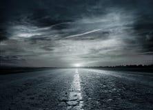 De weg van het asfalt Royalty-vrije Stock Afbeeldingen
