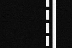 De weg van het asfalt en verkeerslijnen vector illustratie