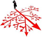 De weg van het bedrijfsmensenonderzoek in verwarring stock illustratie