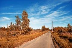 De weg van het dorp Royalty-vrije Stock Afbeelding