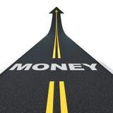 De weg van het geld Stock Foto's