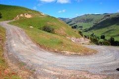 De weg van het grint op landbouwbedrijfgebied Royalty-vrije Stock Afbeelding