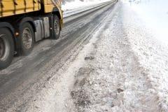 De weg van het ijs vrachtvervoer Stock Foto