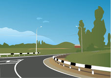 De weg van het landschap Stock Illustratie