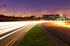De weg van het neon Stock Afbeeldingen