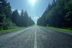 De weg van het platteland Stock Afbeeldingen