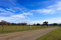 De Weg van het platteland Stock Foto's
