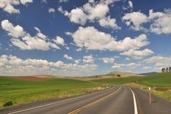 De weg van het platteland in Colfax Royalty-vrije Stock Foto