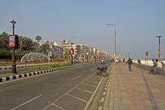 De weg van het Ramakrishnastrand in Vishakhapatnam royalty-vrije stock afbeeldingen