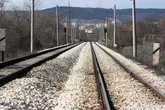 De weg van het spoor Stock Foto's