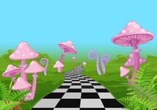 De Weg van het sprookjesland vector illustratie
