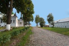 De weg van het steenklooster royalty-vrije stock foto