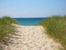 De Weg van het strand. Stock Afbeelding