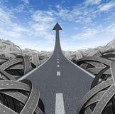 De Weg van het succes Stock Afbeeldingen