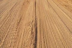 De weg van het zand Stock Afbeeldingen