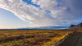De weg van IJsland - Enldess- royalty-vrije stock foto