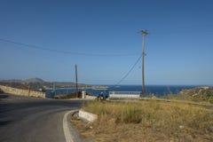De weg van Kreta Royalty-vrije Stock Foto's
