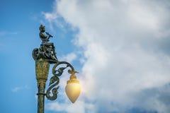 De weg van de lantaarnpaalstraat Stock Foto's