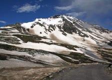 De weg van Manali keylong leh, himachal India royalty-vrije stock afbeelding