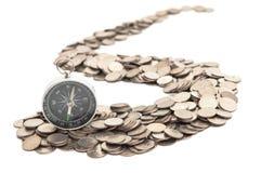 De weg van muntstukken Stock Afbeeldingen