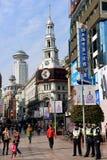 De Weg van Nanjing in Shanghai Stock Foto