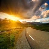 De weg van Noorwegen Stock Fotografie