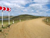 De weg van Olhon Stock Foto's
