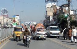 De weg van Pakistan stock afbeelding
