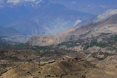 De weg van pelgrims - de heilige plaats van Muktinath Royalty-vrije Stock Afbeeldingen