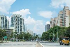 De Weg van Punggol, Singapore Stock Foto