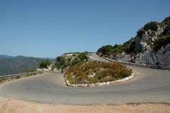 De weg van Sardinige Stock Foto