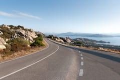 De weg van Sardinige Stock Fotografie