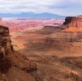 De weg van de Shafersleep in het nationale park van Canyonlands Royalty-vrije Stock Foto's