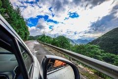 De weg van Sichuan fengjie op de manier vreemde hemel Stock Afbeelding