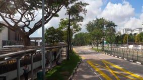 De weg van Singapore van bus stock video