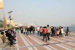 De Weg van Sterren in Hong Kong Stock Foto