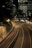 De Weg van Sydney bij Nacht Royalty-vrije Stock Foto