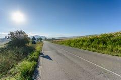 De weg van Toscanië Royalty-vrije Stock Foto's