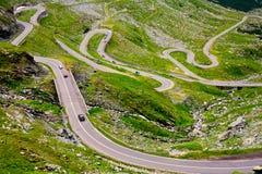 De weg van Transfagarasan in Roemenië Stock Fotografie