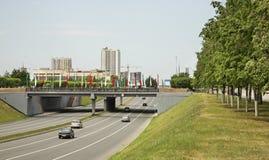De weg van Tufanhassan in Naberezhnye Chelny Rusland Stock Foto's
