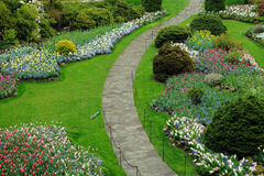 De weg van tuinen Stock Afbeelding